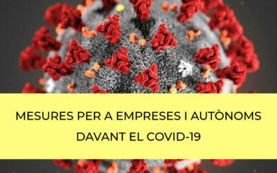 Mesures adoptades per a Empreses i Autònoms front al Covid-19