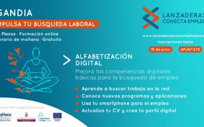 """Gandia comptarà al mes de juny amb l'edició del programa de formació online de """"Alfabetització Digital"""