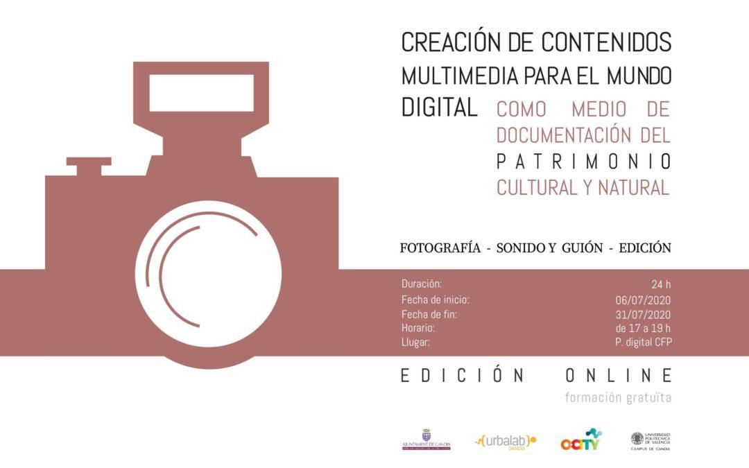 CURSO: Creación de contenidos multimedia para el mundo digital. Edición online