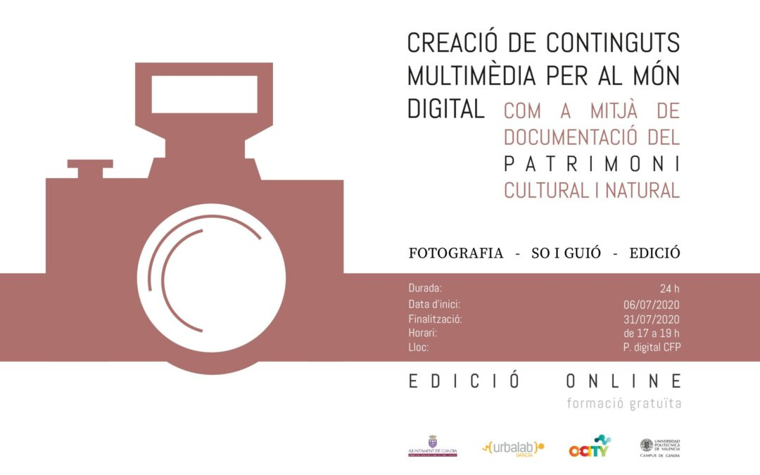 CURS: Creació de continguts multimèdia per al món digital. Edició en linia.