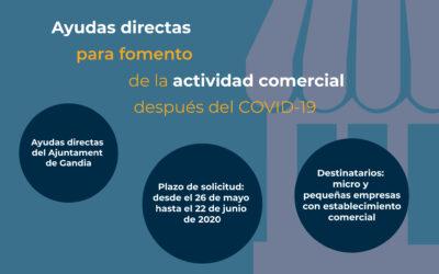 Aprobadas las ayudas directas para fomento de la actividad comercial tras la crisis sanitaria COVID-19