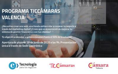Programa TICCámara Valencia para la transformación digital de las pymes