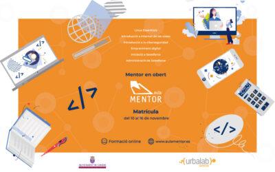 Aula Mentor presenta una nova convocatòria de cursos gratuïts Mentor en Obert