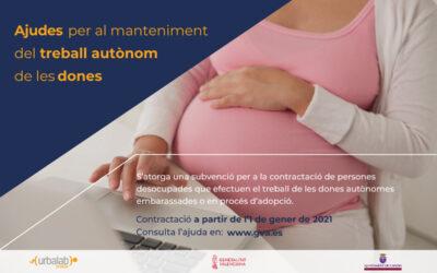 Subvencions per a DONES AUTÒNOMES embarassades o en procés d'adopció