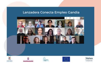 Videoconferència amb els 14 participants de la Lanzadera Conecta Empleo de Gandia